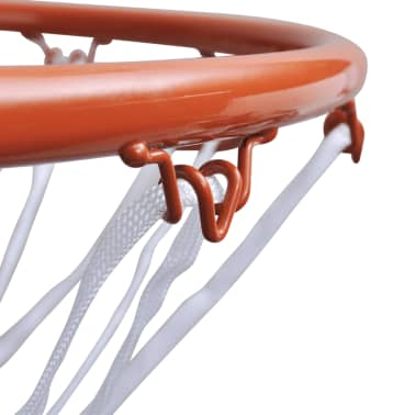 Basketballkorb Set Ring mit Netz orange[3/4]