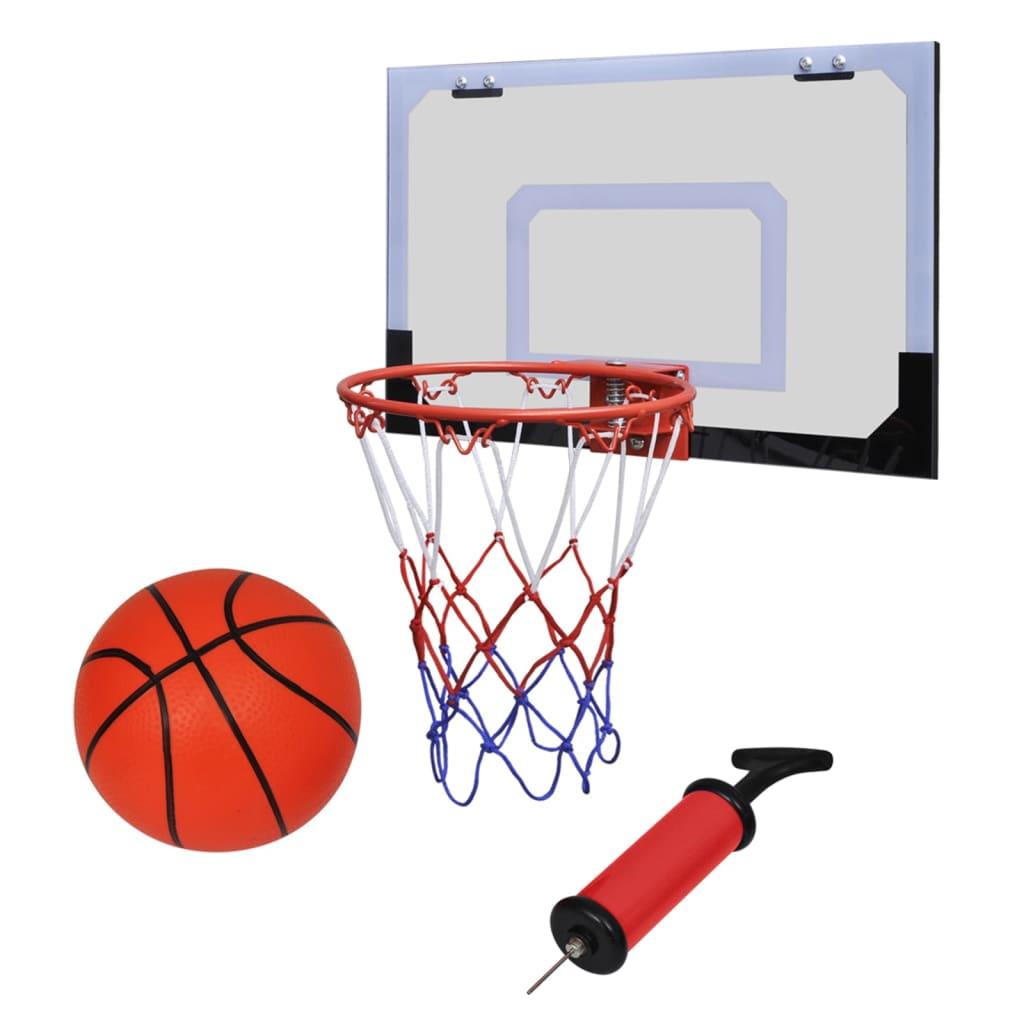 Set coș de baschet indoor cu minge și pompă poza vidaxl.ro