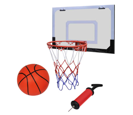 Indoor Mini Basketball Hoop Set with Ball and Pump