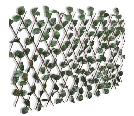 vidaXL Weidengitter 5 Stk. mit künstlichen Blättern 180×90 cm