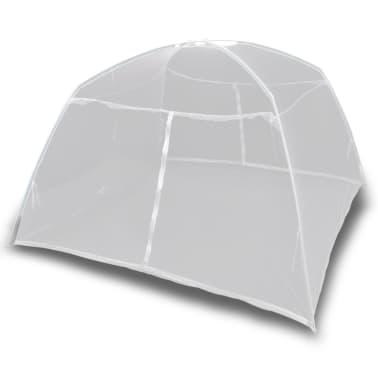 Mongolia Net Mosquito Net 2 Doors 200 x 120 x 130 cm White[3/8]