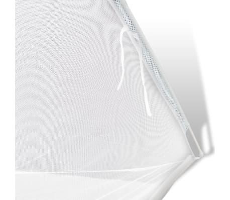 Myggnät säng 200x180x150 cm vit[5/8]