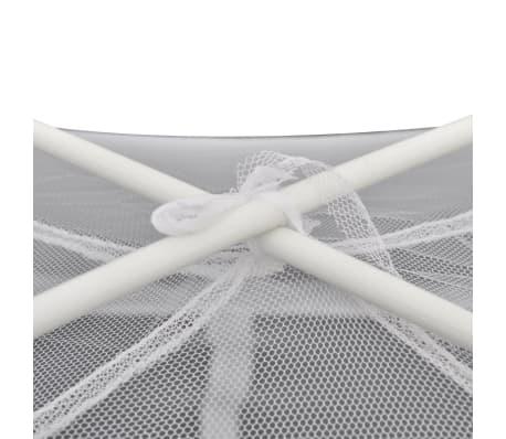 Mongolia Net Mosquito Net 2 Doors 200 x 180 x 150 cm White[6/8]