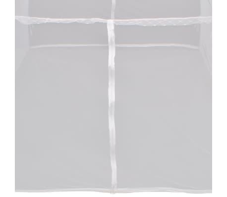 Myggnät säng 200x180x150 cm vit[7/8]