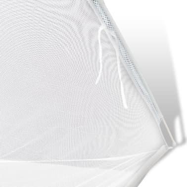 vidaXL mongolsk myggenet 2 åbninger 200 x 180 x 150 cm hvid[5/8]