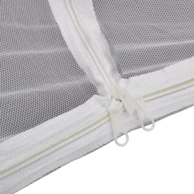 vidaXL mongolsk myggenet 2 åbninger 200 x 180 x 150 cm hvid[8/8]