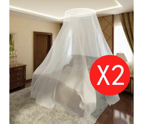 "2 pcs Mosquito Net Bed Net Set Round 1' 10"" x 10' 8"" x 7' 6""[1/5]"