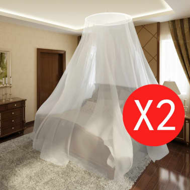 2 pcs Mosquito Net Bed Net Set Round 1