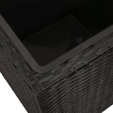 Garden Square Rattan Planter Set 3 pcs Black[8/9]
