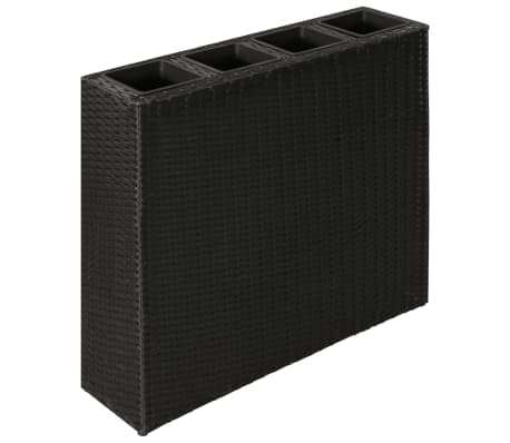 Garden Rectangle Rattan Planter Set Black[2/7]