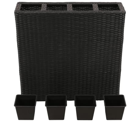 Garden Rectangle Rattan Planter Set Black[3/7]