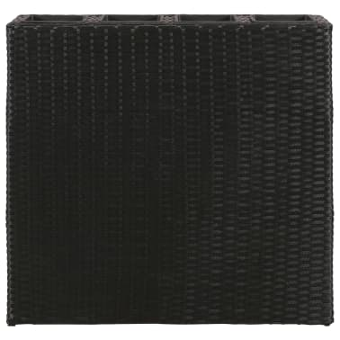 Garden Rectangle Rattan Planter Set Black[4/7]