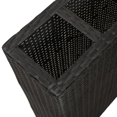 Garden Rectangle Rattan Planter Set Black[5/7]