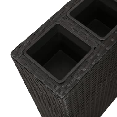 Garden Rectangle Rattan Planter Set Black[6/7]