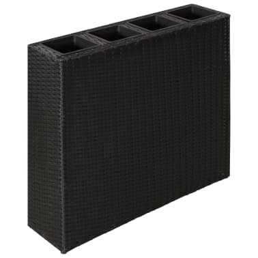 Garden Rectangle Rattan Planter Set Black[1/7]
