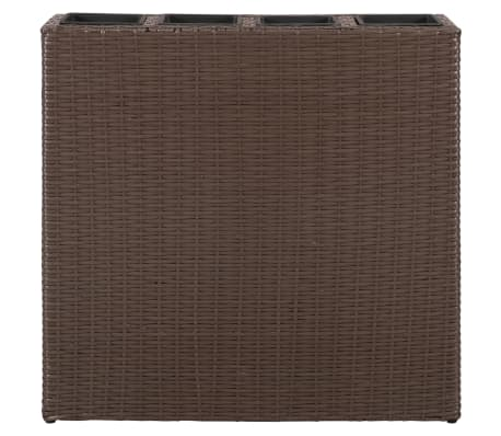 Garden Rectangle Rattan Planter Set Brown[4/7]