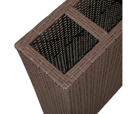 Garden Rectangle Rattan Planter Set Brown[5/7]
