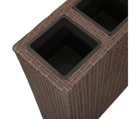 Garden Rectangle Rattan Planter Set Brown[6/7]