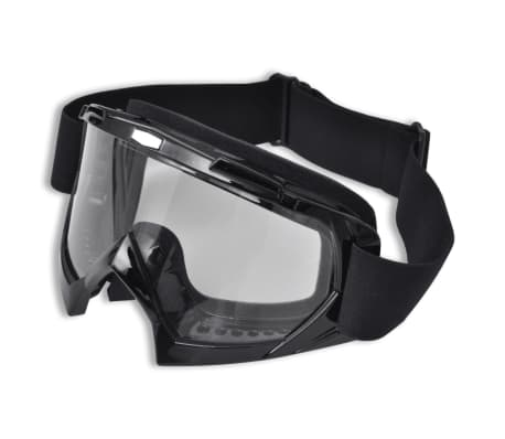 Crossglasögon klart glas svart