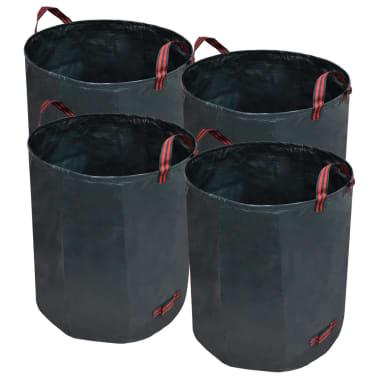 vidaXL Sac poubelle de jardin Vert foncé 4 pcs 272 L 150 g/m²[1/5]