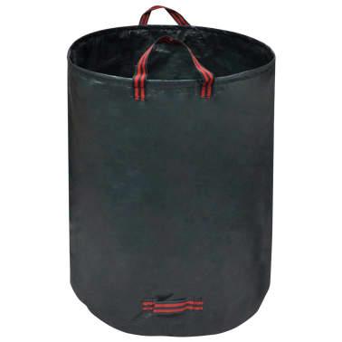 vidaXL Sac poubelle de jardin Vert foncé 4 pcs 272 L 150 g/m²[2/5]