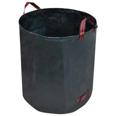 vidaXL Sac poubelle de jardin Vert foncé 4 pcs 272 L 150 g/m²[3/5]