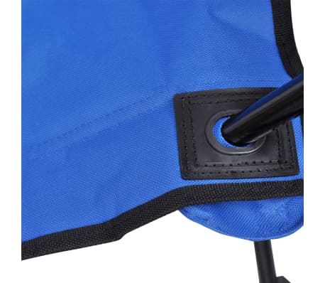 Folding Chair Set 2 pcs Camping Outdoor Chairs with Bag Blue[5/6]