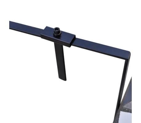 acheter table de balcon suspendue demi circulaire noir et. Black Bedroom Furniture Sets. Home Design Ideas