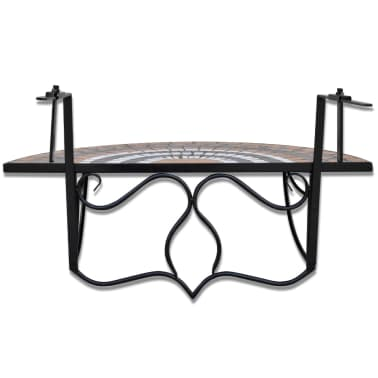 Vidaxl Balkonhängetisch Terracotta Und Weiß Mosaik Im Vidaxl