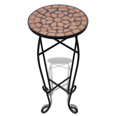Mosaic Side Table Plant Table Terracotta[2/5]