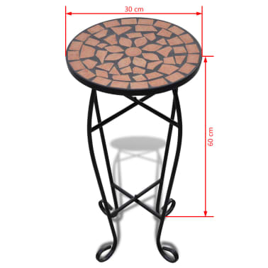Mosaic Side Table Plant Table Terracotta[5/5]