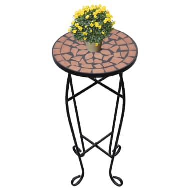 Mosaic Side Table Plant Table Terracotta[1/5]