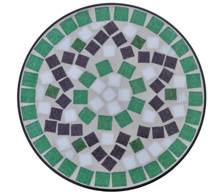 Mosaic Side Table Plant Table Green White[3/5]