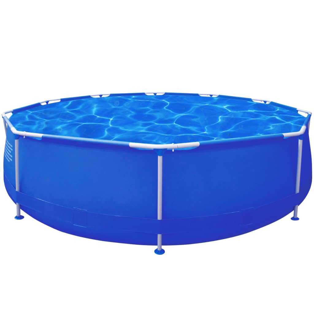 vidaXL Round Swimming Pool with Steel Frame Blue 360 x 76 cm