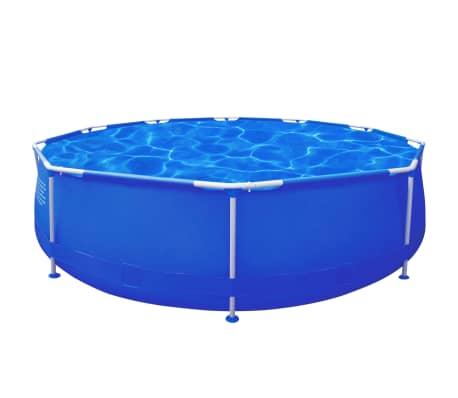 Rund schwimmbecken schwimmbad mit stahlrahmen blau 360 x for Stahlrahmen pool rund