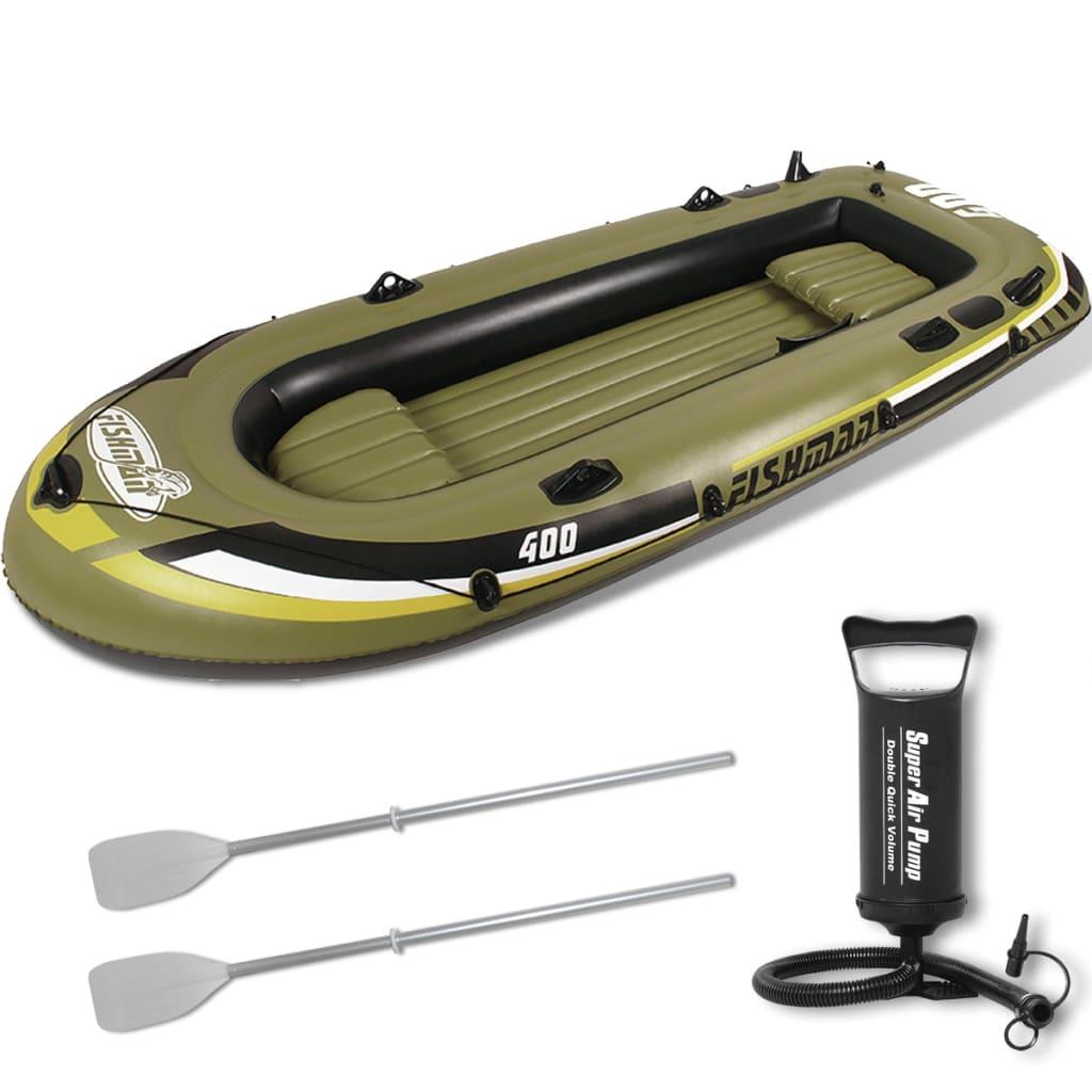 Barcă gonflabilă cu pompă și padele 340 cm vidaxl.ro