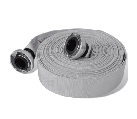 vidaXL Fire Hose Flat Hose 30 m with C-Storz Couplings 2 Inch
