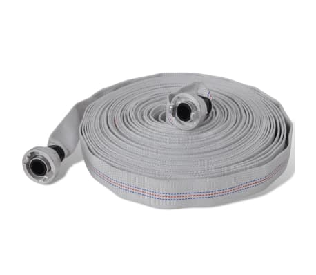 vidaXL Fire Hose Flat Hose 30 m with D-Storz Couplings 1 Inch