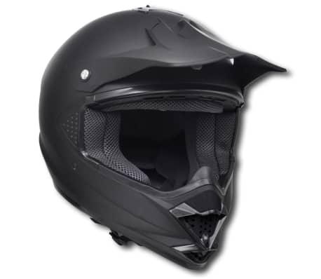 Casco motocross, Nero, Taglia S, senza visiera