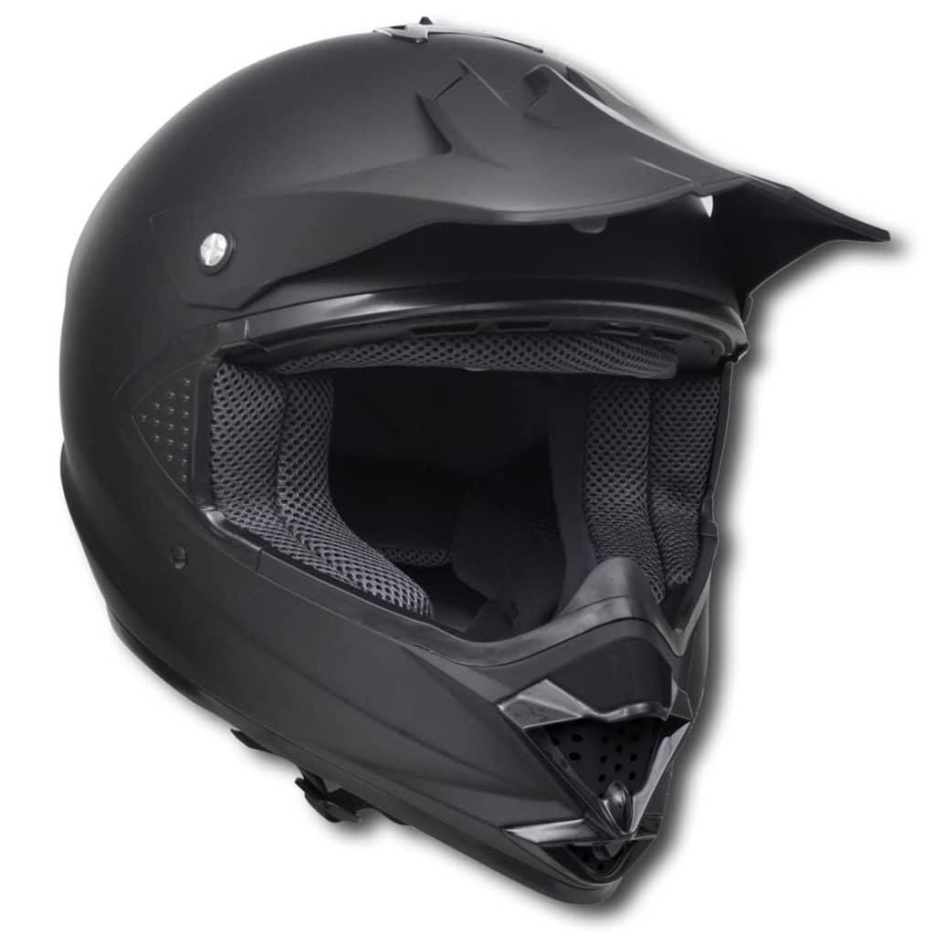 Cască motocicletă fără vizieră XL, Negru imagine vidaxl.ro