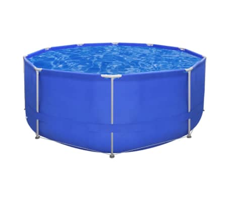 Above Ground Swimming Pool Steel Frame Round 12' x 4'[1/7]