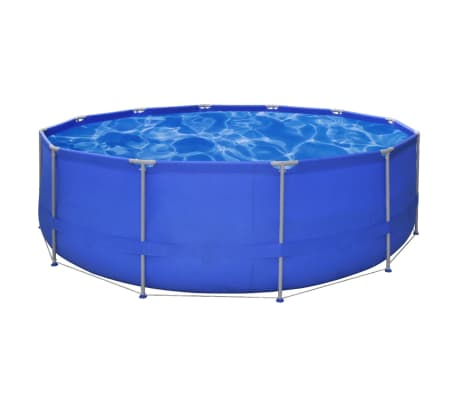 Above Ground Swimming Pool Steel Frame Round 15' x 4'[1/7]