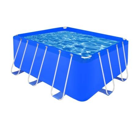 "Above Ground Swimming Pool Steel Rectangular 13' 1"" x 6' 9"" x 4'[1/7]"