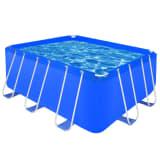 Правоъгълен плувен басейн със стоманена рамка, 400 x 207 x 122 см