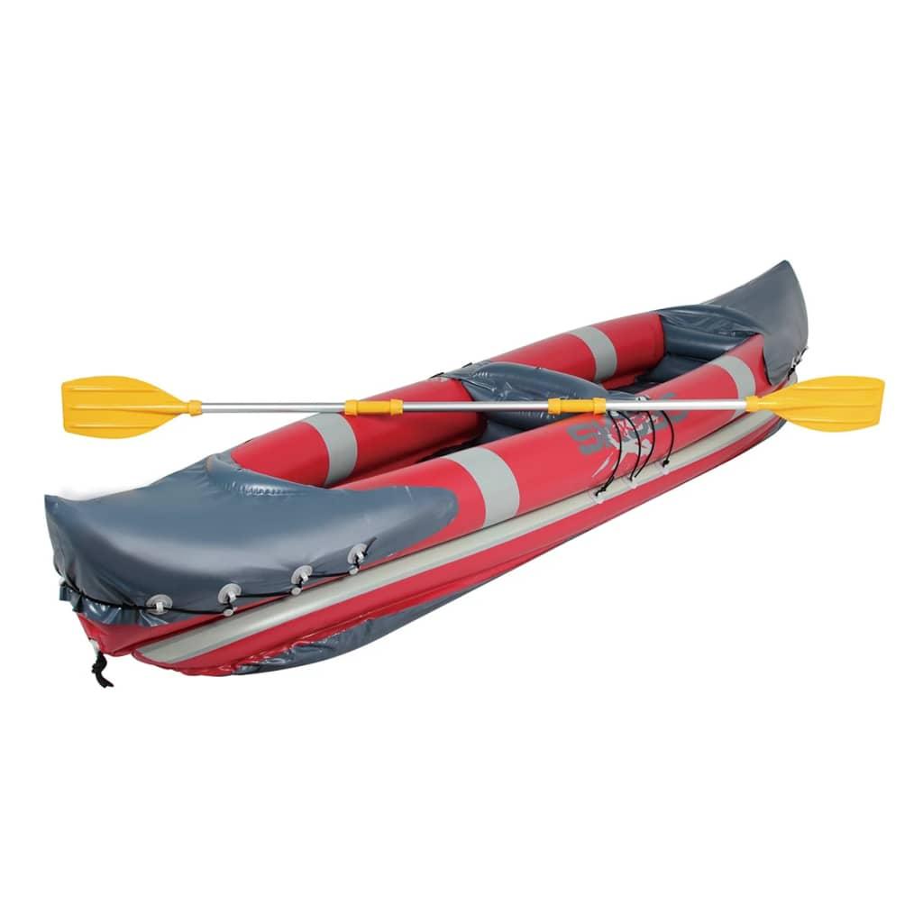Caiac barcă gonflabilă cu padelă din aluminiu 330 x 81 cm poza 2021 vidaXL