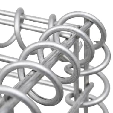 """vidaXL Gabion Basket with Lids Galvanized Wire 39.4""""x11.8""""x11.8""""[4/5]"""