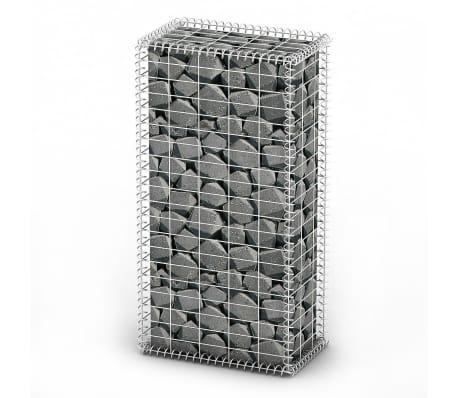 Gabion Basket Wall with Lids Galvanized Wire 100 x 50 x 30 cm[1/4]