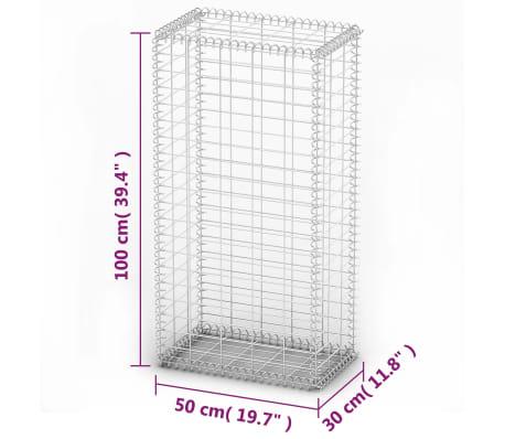 """vidaXL Gabion Basket with Lids Galvanized Wire 39.4""""x19.7""""x11.8""""[5/5]"""