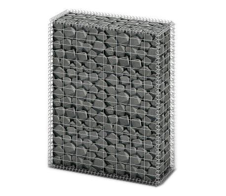 vidaXL Gabion košara s pokrovi pocinkana žica 100 x 80 x 30 cm[1/5]
