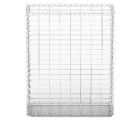vidaXL Gabion košara s pokrovi pocinkana žica 100 x 80 x 30 cm[3/5]